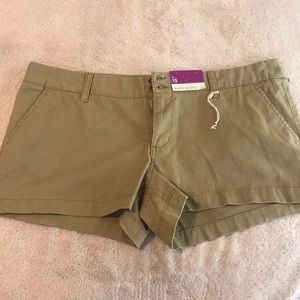 NEW Mossimo Khaki Short Shorts 15